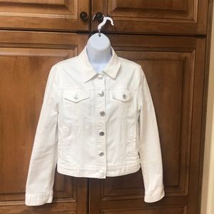 Very gently worn J Crew White Denim Jacket